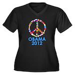 Re Elect Obama in 2012 Women's Plus Size V-Neck Da