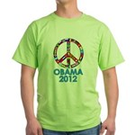 Re Elect Obama in 2012 Green T-Shirt