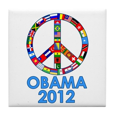 Re Elect Obama in 2012 Tile Coaster