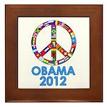 Re Elect Obama in 2012 Framed Tile