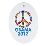 Re Elect Obama in 2012 Oval Ornament
