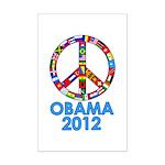 Re Elect Obama in 2012 Mini Poster Print