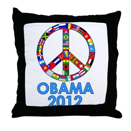 Re Elect Obama in 2012 Throw Pillow
