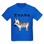 Zebra Kids Dark T-Shirt