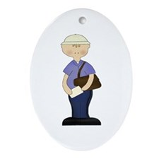 Mail Man Oval Ornament
