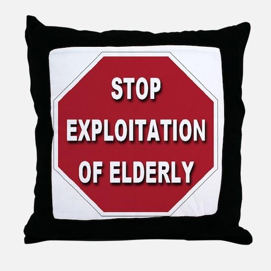 Stop Exploitation Of Elderly Throw Pillow