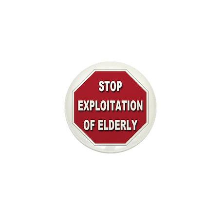 Stop Exploitation Of Elderly Mini Button