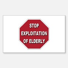 Stop Exploitation Of Elderly Rectangle Decal