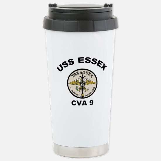 USS Essex CVA-9 Stainless Steel Travel Mug