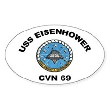 USS Eisenhower CVN-69 Oval Decal