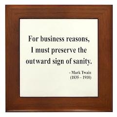 Mark Twain 26 Framed Tile