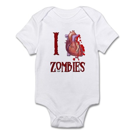 I *heart* Zombies Infant Bodysuit