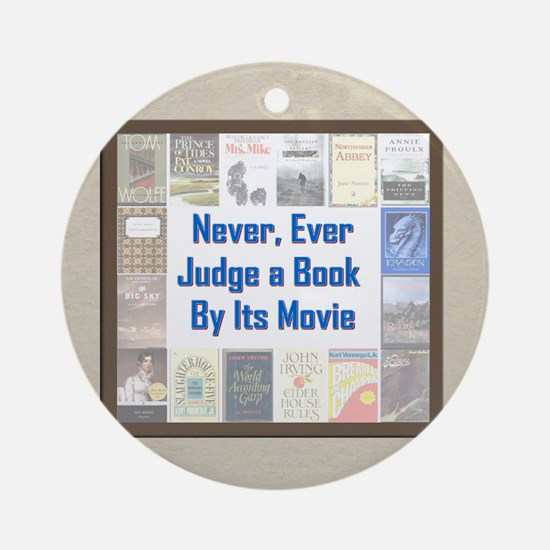 Book vs. Movie Ornament (Round)