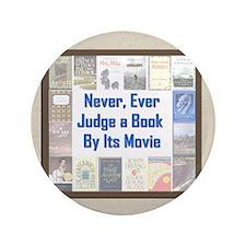 """Book vs. Movie 3.5"""" Button"""