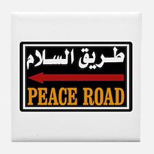 Peace Rd, Egypt Tile Coaster