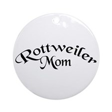 Rottweiler Mom Ornament (Round)
