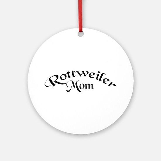 Rottweiler Mom Ornament (Round)