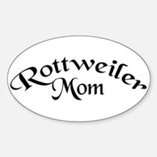 Rottweiler Mom Oval Decal