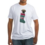 Puggle Christmas Fitted T-Shirt