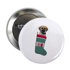 "Puggle Christmas 2.25"" Button"