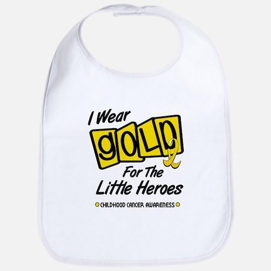 I Wear Gold For The Little Heroes 8 Bib