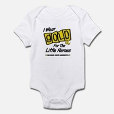 I Wear Gold For The Little Heroes 8 Infant Bodysui