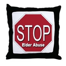 Stop Elder Abuse Throw Pillow
