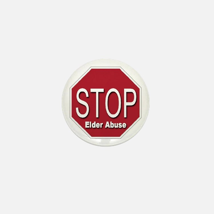 Stop Elder Abuse Mini Button (10 pack)