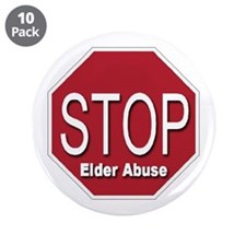 """Stop Elder Abuse 3.5"""" Button (10 pack)"""