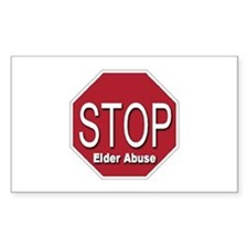 Stop Elder Abuse Rectangle Decal