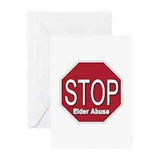 Stop Elder Abuse Greeting Card