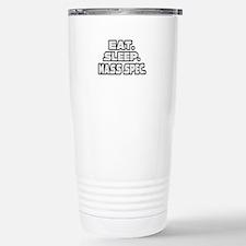 """Eat. Sleep. Mass Spec."" Stainless Steel Travel Mu"
