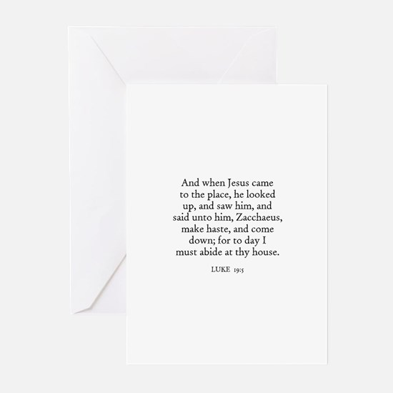 LUKE  19:5 Greeting Cards (Pk of 10)