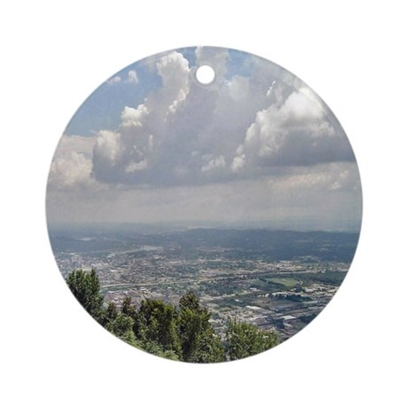 View of the City Ornament (Round)