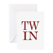 TWIN Greeting Card