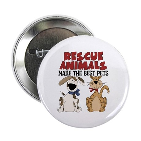 """Rescue Animals 2.25"""" Button (10 pack)"""