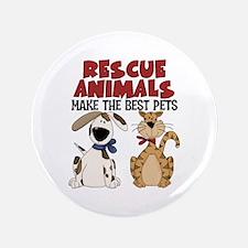 """Rescue Animals 3.5"""" Button"""