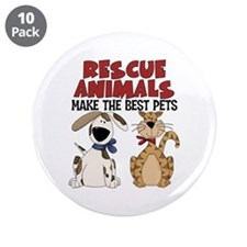 """Rescue Animals 3.5"""" Button (10 pack)"""
