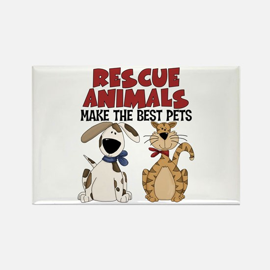 Rescue Animals Rectangle Magnet (10 pack)