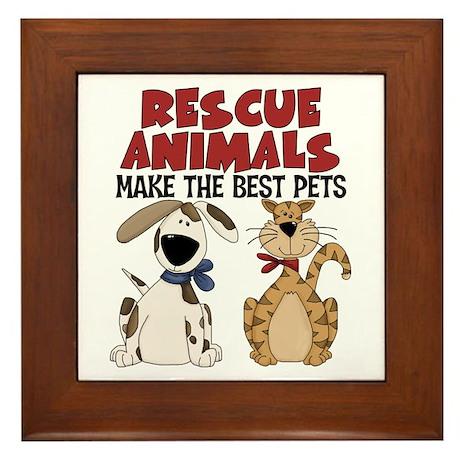 Rescue Animals Framed Tile