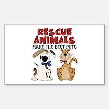 Rescue Animals Rectangle Sticker 50 pk)