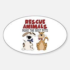 Rescue Animals Oval Bumper Stickers