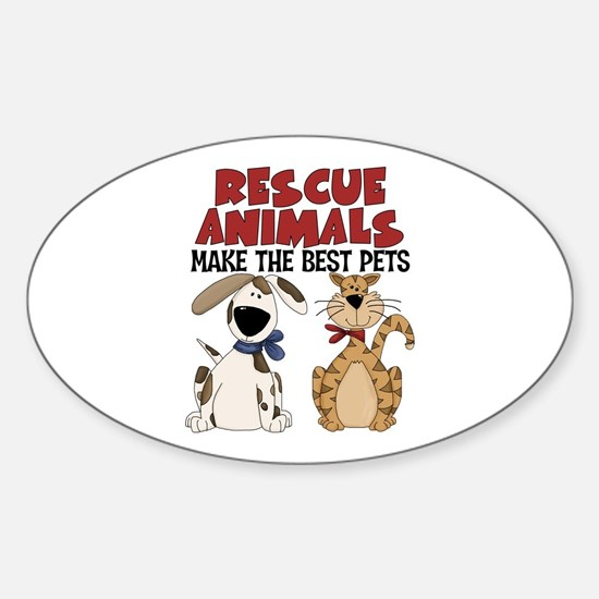 Rescue Animals Oval Bumper Stickers