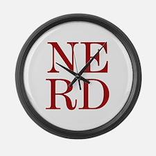NERD Large Wall Clock