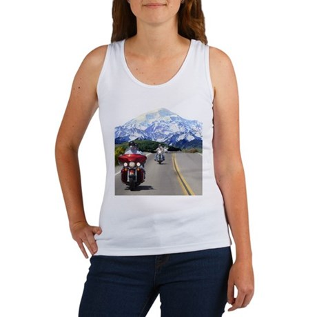 Motorcycles on tour in the mo Women's Tank Top