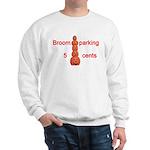 Broom Parking Halloween Sweatshirt