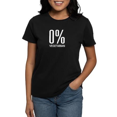 0% Vegetarian Women's Dark T-Shirt