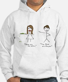 Funny Awesome stick figure Hoodie