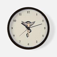 Artistic Chiropractic Emblem Wall Clock