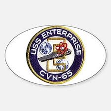 USS Enterprise CVN-65 Oval Decal